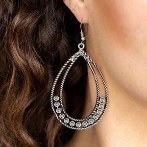 Glitz Fit Silver Earrings